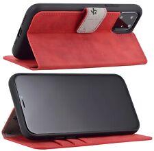 """Exclusive Leder Klapp Tasche in Antik Rot Schutz Bumper iPhone 11 Pro Max (6.5"""")"""
