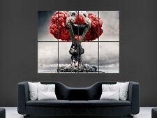 Esplosione nucleare CLOWN Fantasy Gigante muro POSTER PICTURE PRINT GRANDE ENORME