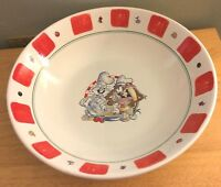 Warner Bros 1996 Pasta Serving Bowl BUGS BUNNY & TAZ Large Vtg