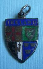 shield sterling charm Vintage enamel Ireland