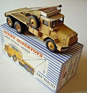 Dinky Toys ref 888 BERLIET GBO SAHARIEN + BOITE D'ORIGINE