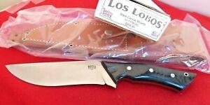 Bark River Los Lobos Utility Fighter Knife Black Canvas Micarta 10-117M-BC