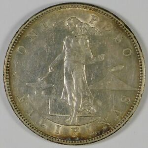 1903 Philippines US Issued $1 Peso Silver Coin