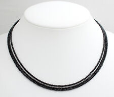 Black Spinel Necklace Precious Stone Ball Collier Necklace Jewelry Three Strands