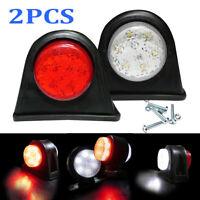 2X 12-LED Side Marker Lights Indicator Lamp Trailer Truck Van 12V-24V Outline