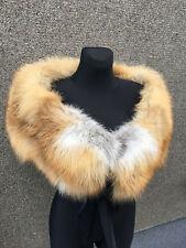 Extra Wide Red Fox Fur Collar Stole Boa Saga Furs