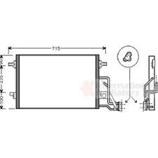Kondensator Klimaanlage - van Wezel 58005189
