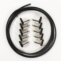 10-Pk SquarePlug SP400BK Soldered RA 1/4'' Plug, Black w/ 10' Mogami W2314 Cable