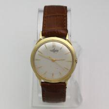 Vintage 1950's 14k Yellow Gold Ulysse Nardin Chronometer Dress Wristwatch
