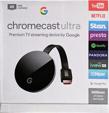 Google Chromecast Ultra 4K Hd Hdr Video Media Streamer Player