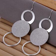 ASAMO Damen Ohrhänger mit großen Ringen Ohrringe 925 Sterling Silber plattiert
