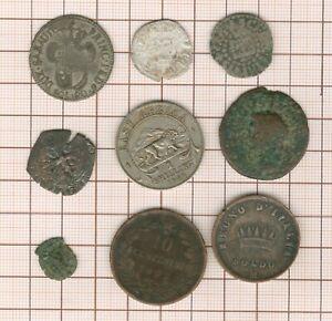 Set To Studying! 9 Pièces-jetons-médailles, Billon + Bronze Ancient Heather