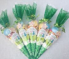 5 X dinosaur Themed Pre Filled Party Cones Personalised +free Sweety Bag