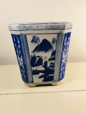 Chinese antique blue and white flower pots