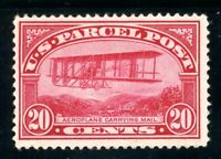 USAstamps Unused FVF US 1913 Parcel Post Mail Plane Scott Q8 OG MHR
