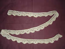 #416 Beautiful Vintage Handmade Lace 195cm/5cm(77''/2'')