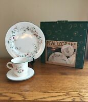 Pfaltzgraff WINTERBERRY 3-Piece Place Setting (Plate, Cup, Saucer) FREE SHIP