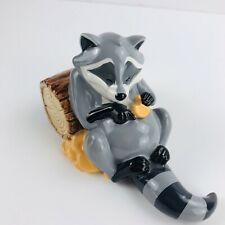Enesco Disney Pocahontas Raccoon Meeko Ceramic Porcelain Statue