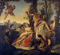 Painting Tiepolo Bacchus And Ariadne Xxl Wall Canvas Art Print