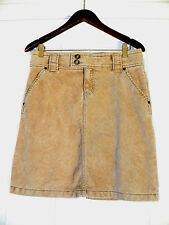 ab9b33f10 GAP JEANS Stretch Beige Corduroy Knee Length Skirt w/Front Lined Pockets  Sz: 6