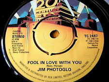"""JIM PHOTOGLO - FOOL IN LOVE WITH YOU   7"""" VINYL"""