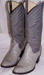 MEN SHOES  DAN POST  BOOTS Size 7.5C Gray Leather