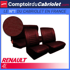 Garnitures sièges avant et banquette arrière Renault 4L simili cuir lie de vin