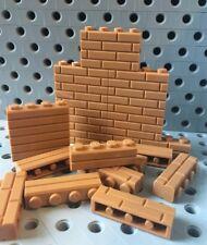 Lego Bricks 1x4 Red Reddish Medium Nougat Modified w/Masonry Profile Wall 25pcs