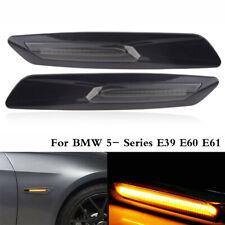 2 x Amber LED Turn Signal Side Marker Light For BMW 5- Series E39 E60 E61