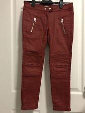 H&M x Isabel Marant Waxed Moto Pants UK6