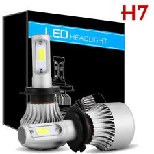 2x H7 8000LM 6000K COB LED Conversion Headlight Bulb High Power Low Beam White