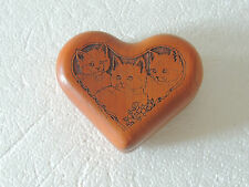 Wilderness Woods heart shape Laser engraved Music Box ~Memory~ jewelry case 3.5""