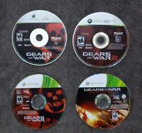 USED - GEARS OF WAR 1 2 3 & JUDGEMENT Xbox 360 - Lot of 4 Bundle - Free Shipping