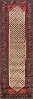 Vintage Geometric Koliaei Traditional Runner Rug Wool Oriental Staircase 4'x10'