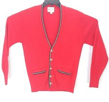 Rugby Mills Mens Cardigan Sweater M Red Orlon Acrylic Long Sleeve Button Front