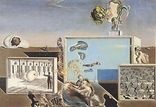 Framed Print - Salvador Dali Illumined Pleasures (Painting Picture Poster Art)