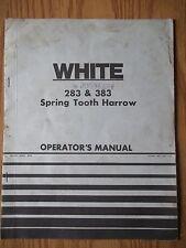 OLIVER WHITE 283 383 Spring Harrow Operators Setup Repair Operating Manual