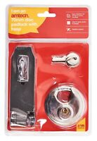 New Heavy Duty 70Mm Disc Padlock With Hasp Shed Garage Security 2 Keys Amtech