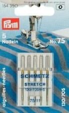 PRYM 5 Aiguilles pour machines à coudre 130/705H-S 75 STRECH Piston plat 154350