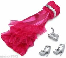 Barbie Fashionistas Clothing Party Dress Hot Pink Pack Fashion Oufits New