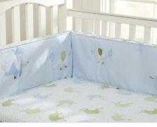 New Nip Pottery Barn Kids Eli's Elephant Blue Fitted Crib Sheet Organic Cotton