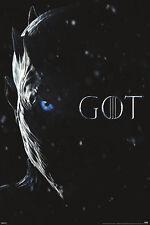 GAME OF THRONES NIGHT KING EYE 24x36 POSTER GOT NEW HBO TV SERIES SHOW SEASON 7!