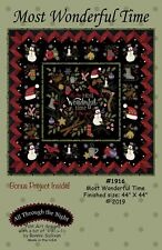 Most Wonderful Time by Bonnie Sullivan ~ Christmas Quilt Pattern