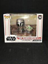 Pop! Star Wars Moment Mandalorian With The Child ( Uk New!)