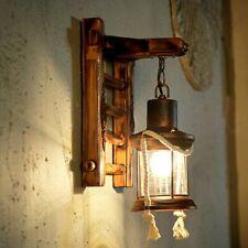 Applique in legno vintage E27 Applique da parete in legno rustico applique