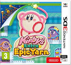 3ds-kirby's epic yarn extra-ES/pt (3ds) game new