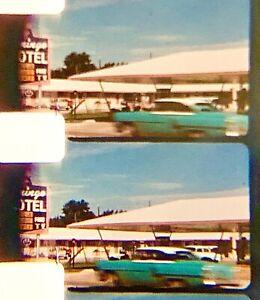 """LOT of 2 HOME MOVIE 7"""" Reels 8mm FILMS c 1960 COLOR San Diego Disneyland? BEACH"""