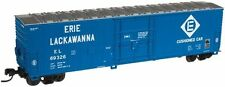 Blue N Scale Model Train Carriages