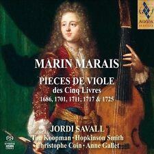 Marin Marais Jordi Savall Pieces de Viole 1868 1701 1711 1717 1725 box CD NEW