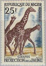 NIGER 1959 7 97 Giraffes Giraffen Tierschutz Fauna Tiere Animals MNH